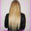 Наращивание волос 180 капсул, длина 60 см.