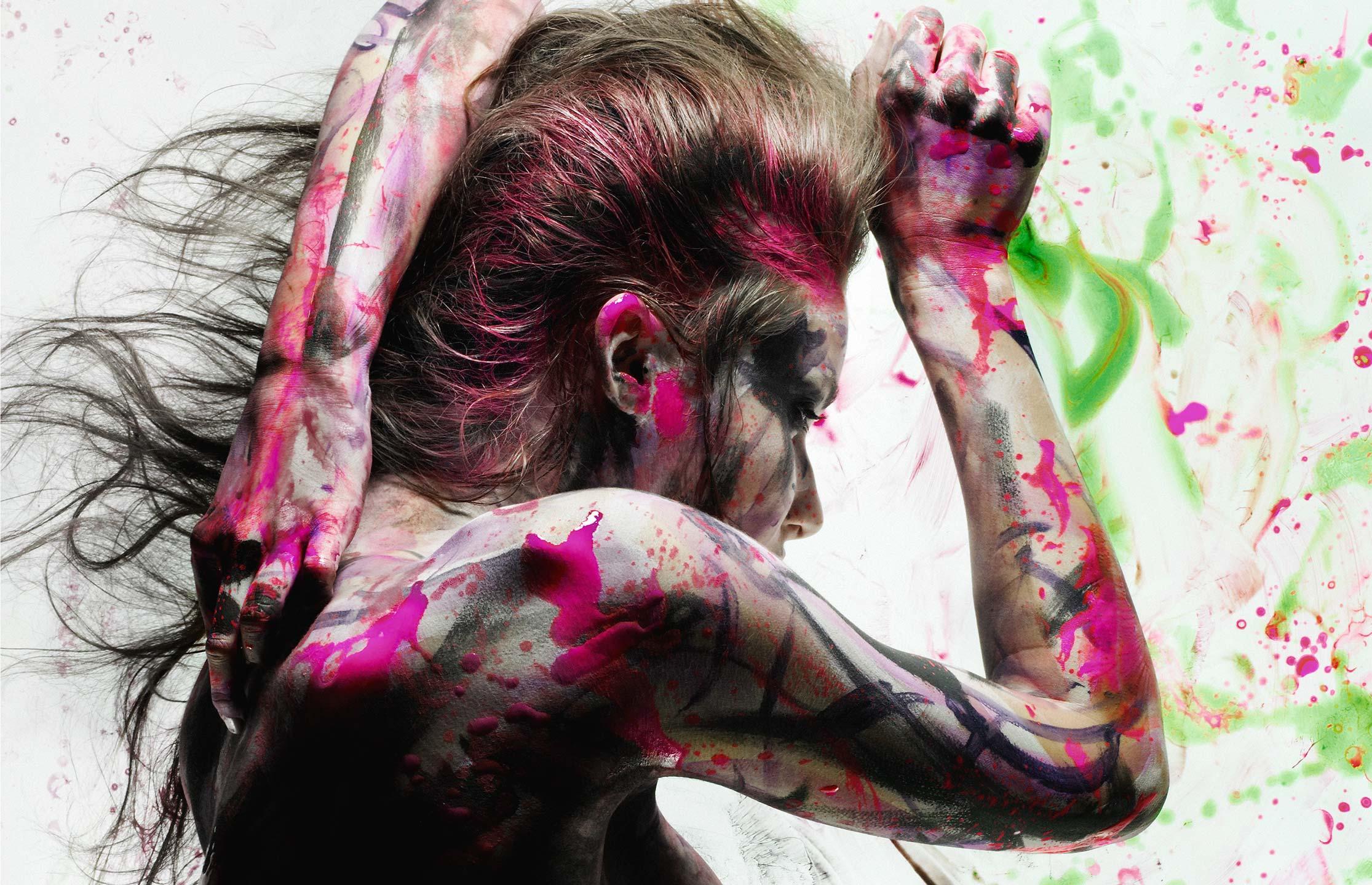 Фото девушек в краске 2 фотография